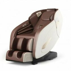 Full Body Zero Gravity Massage Chair With Sl Track Heat - Color Brown