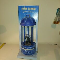 New In Box Vintage Dolphin Rain Fall Dripping Oil Motion Lamp 16 Works Light