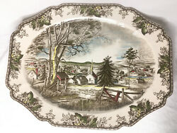 Johnson Brothers England The Friendly Village Large Oval Turkey Serving Platter