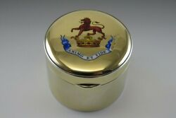 Fine Antique English 18k Gold And Sterling Silver Snuff Trinket Box Animo Et Fide