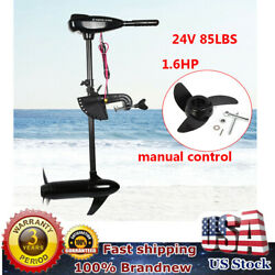 Electric Boat Troller Motor Mounting Marine Outboard Propeller Engine 85lbs 24v