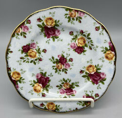 Royal Albert Old Country Roses Blue Damask Salad Plate Signed By Michael Doulton