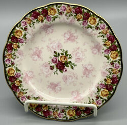 Royal Albert Old Country Roses Peach Damask Salad Plate Excellent