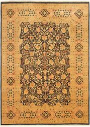 Hand-knotted Carpet 9and0390 X 12and0394 Bordered Floral Traditional Wool Rug