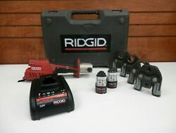 Ridgid - Rp 241 - Press Tool Kit - Pipe Crimping Device - W/ 4 Changeable Jaws