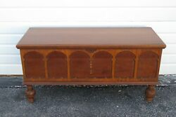 Carved Cedar Blanket Chest Trunk Bench Coffee Table By Ed Roos Company 2399