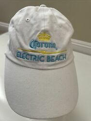 Corona Beer Electric Beach White Collectible Hat Cap One Size Fits All