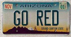 Vanity License Plate Personalized Collectible Authentic Arizona Cardinals