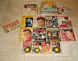 Lot Of 78 Elvis Presley Magazines Tv Guides 1950s 1960s 1970s -2000 Collection
