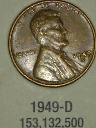 1949 Wheat Penny With Mint Defect