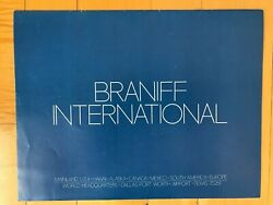 Braniff International Airlines There's Something New In The Air Brochure Booklet