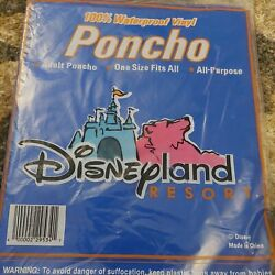 New Disneyland Adult Size Poncho Waterproof Raincoat One Sz Fits All Collectible