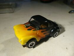 Flamed Willys Coupe Slot Car Ho Chrome Craig Rims, And Rubber Tires