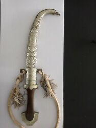 Antique Silver And Brass Dagger Knife Khanjar Persian Islamic Middle Eastern Rare
