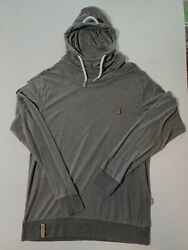 """Naketano Women's Xl Mid-gray Pullover Hoodie Poet' Choice """"a Brave New World"""""""