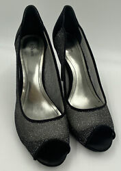 Style And Co Dressy Heels Black Mesh