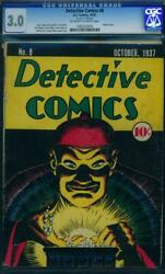 Detective Comics 8 [1937] Certified 3.0 A Magnificentscarce Golden-age