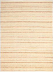 Modern Hand-knotted Carpet 9and03910 X 13and0395 Oriental Wool Area Rug