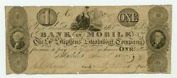 1826 1 The St. Stephens Steamboat Company - Mobile, Alabama Note