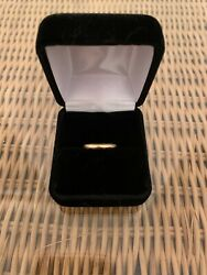 Antique Art Deco 18k Yellow Gold Engraved Wedding Band Ring Size 4.25