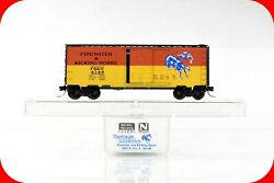 N Scale Firewater And Kicking Horse Box Car, Micro Trains Special Heritage 8 Rare