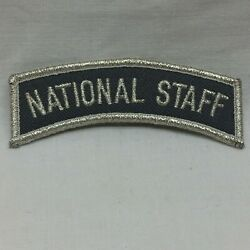 Military Patch Badge Army National Staff Arc Silver Border Twill Variant
