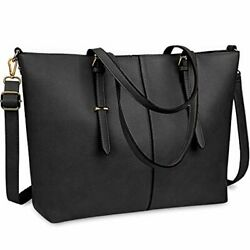 Laptop Tote Bag for Women 15.6 Inch Waterproof Lightweight Leather Computer Lapt $54.00