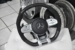 Original Mercedes-benz Amg Performance Steering G63 E63 C63 With Heater Carbon