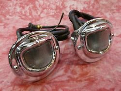 Nos Pair Accessory Back Up Reverse Lights1940and039s-1950and039s Hot Rat Rod Lowrider