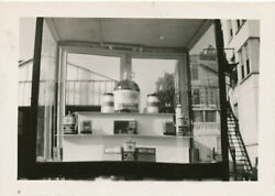 Lancaster Pa Ditler's Atlantic Gas Station 1940s Real Photo Oil Display Window
