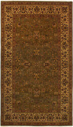 Vintage Hand-knotted Carpet 5'2 X 8'11 Traditional Oriental Wool Area Rug