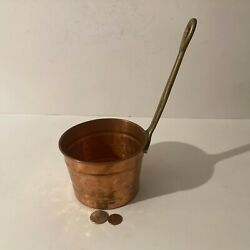 Vintage Metal Copper And Brass Ladle, Measuring Cup, Kitchen Decor, Use It