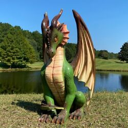 Griffin Dragon Statue Of Four Feet Medieval Festival Or Game Room 4 Foot