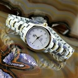 Womens Tag Heuer Link Series Diamond 18k Gold And Stainless Steel Watch Wfj1351