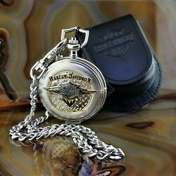 New Franklin Mint Harley Davidson The Tribe That Rides Pocket Watch With Case