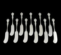 11 Antique C1900 Sterling Silver Alvin Majestic Cheese Butter Spreaders Knives