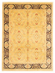 Traditional Hand-knotted Oriental Carpet 9'2 X 12'3 Area Rug In Light Yellow