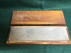 Vintage American Trails Sharpening Stone Soft Arkansas In Wood Box Light Use