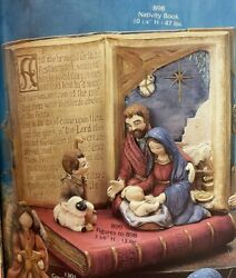 Vintage Gare Ceramic Mold 898 And 899 Nativity Book And Figures 2 Molds