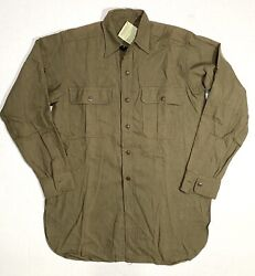 Vintage Banana Republic Surplus Shirt Military Green 1952 New With Tags