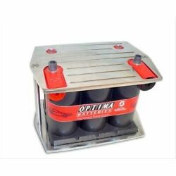 Taylor 48230 Battery Tray Billet Aluminum Polished Blue/red/yellow Top New