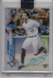 2020 Topps Clearly Authentic Bo Bichette Auto Rookie Card Rc Cca-bo