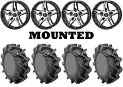 Kit 4 High Lifter Outlaw 3 Tires 35x9-20 On Frontline 505 Machined Wheels Hp1k