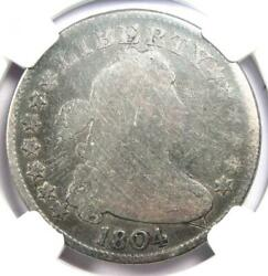 1804 Draped Bust Quarter 25c Coin - Certified Ngc Ag Details - Rare Date Coin