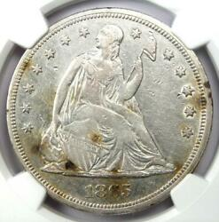1865 Seated Liberty Silver Dollar 1 - Ngc Xf Detail - Civil War Coin - Looks Au