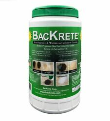 Backrete Waterless Concrete Cleaner 2 Lb Easy Shaker - Removes Stains - New