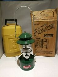 Vintage Coleman 200a Single Mantle Green Lantern With Yellow Clamshell Case 1980