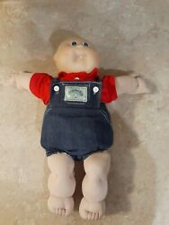Cabbage Patch Kid Vintage Doll 1978 1982 Baby Boy Bald No Hair Blue Eyes