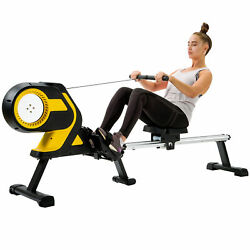 Magnetic Row Rowing Machine Resistance Lcd Home Gym Exercise Equipment Folding