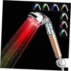 Led Shower Head, High Pressure Handheld Shower Head With 7 Color 7 Colors